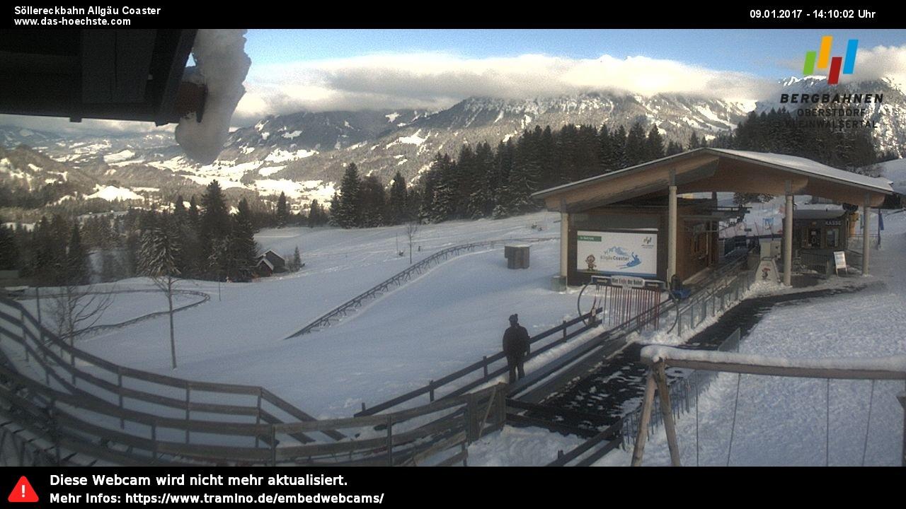 Überlicken Sie das Skigebiet Söllereck von der Bergstation der Söllereckbahn aus.